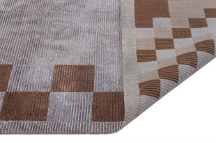 FINELINE FL 29 GREY/BROWN EL DOKUMA HALI 200x300