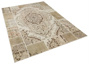 PATCHWORK SBT MEDALLION LIGHT NATURAL 170x240cm 4.08m2 HALI